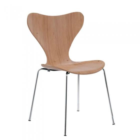Cadeira Jacobsen Laminada Fixa