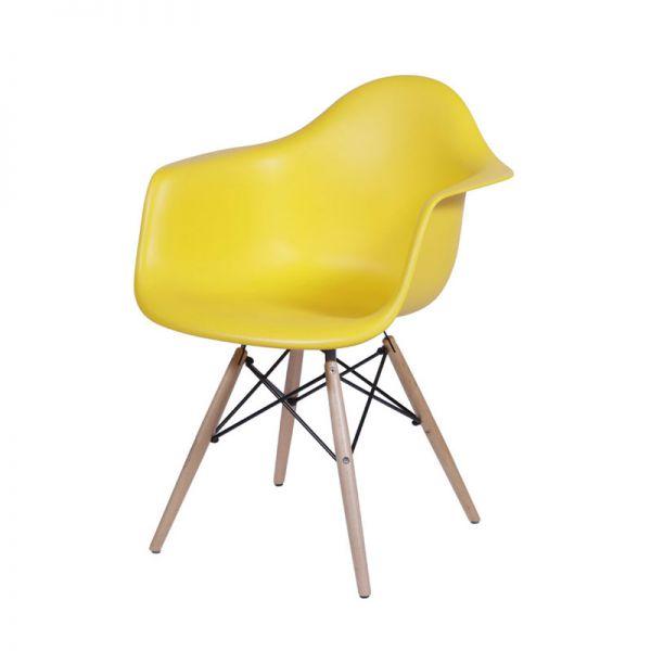 Cadeira Eames DAR / Eiffel / Genova Base de Madeira