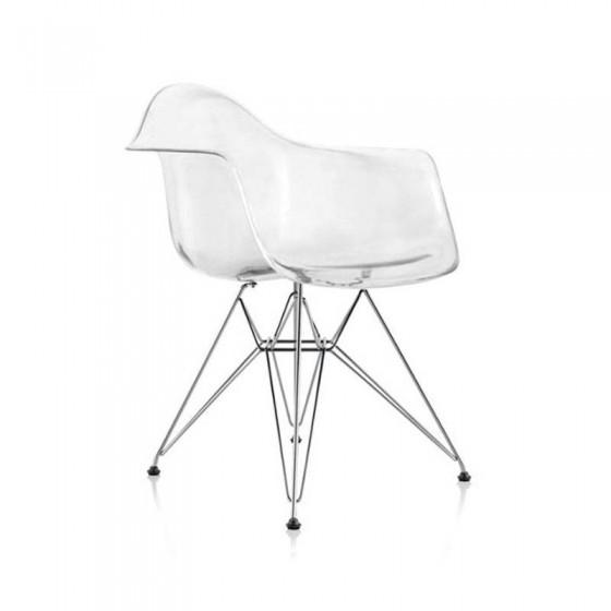 Editar: Cadeira Eames Transparente / DAR torre/ Eiffel / Genova base Cromada